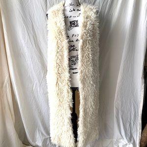 Fuzzy Soft Knee Length Vest